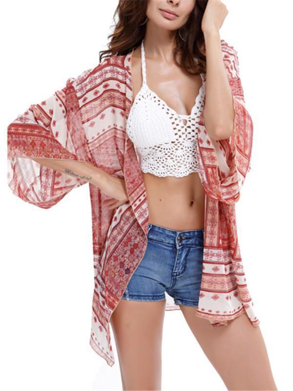 Floral Print Bikini Cover-up