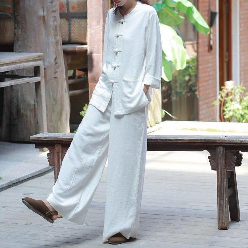 Zen Garden Cotton & Linen Palazzo Pants