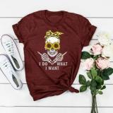 Women's T-shirt with Skull Print