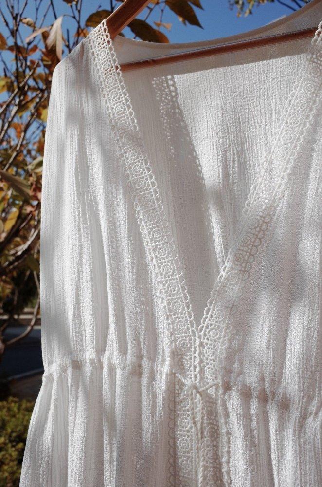 Beach Dress, Cover up, White Maria