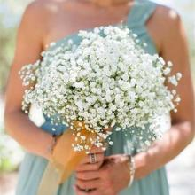 1pcs 52cm White Babies Breath Artificial Gypsophila Flowers Bouquets For Wedding Birthday Decoration Home Garden Fake Flowers