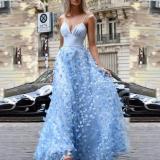 Sexy V-neck Sling High Waist Evening Dress