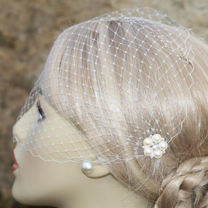 Vintage Women's Bridal Hats and Fascinators with Comb White/Ivory Bridal hair Accessories 2020