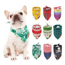 GLORIOUS KEK Dog Bandanas Cotton Pet Bandana Scarf for Small Medium Large Dog Cute Patterns Pet Neckerchief Adjustable Christmas