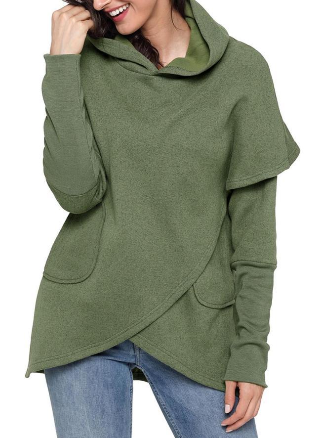 Irregular Long Sleeve Hoodies