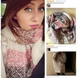 2020 Women Fall Winter Mohair Cashmere Like Scarf Long Size Warm Fashion Scarves & Wraps For Lady Casual Patchwork Accessories