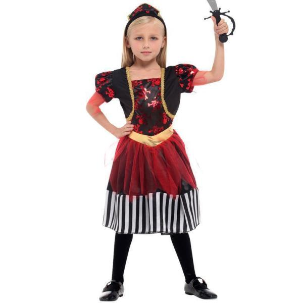 Halloween Cosplay Party Children Girls Pirate Costume Set Halloween Dress Up Party Costume
