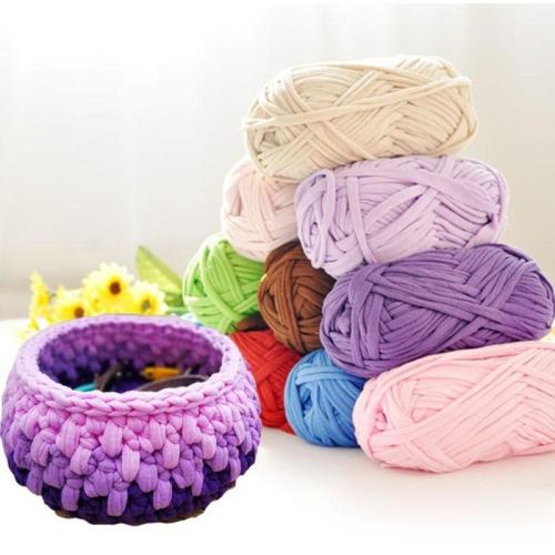 1 Pcs Hand-knit Rugs Woven Thread Crocheted Basket Blanket 100g Braided Rope DIY Yarn