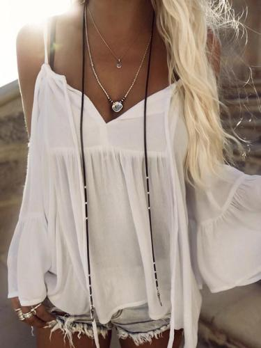 Sexy Womens Beach Wear Cover up With Ruffled Sleeves