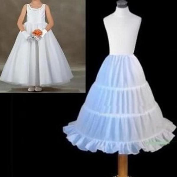 2020 New Short Petticoat for Flower Girl Dress Crinoline Wedding Party Underskirt Lace Appliqued
