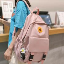 Student Lady Flower Backpack Cute Women Harajuku College School Bag Book Female Kawaii Backpack Waterproof Nylon Bag Girl Trendy