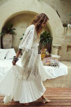 Beach Dress, Cover Up White Lace Sophia