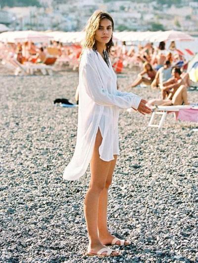 Casual Solid V-neck Skirt Mini Dresses