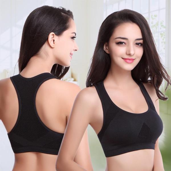 EBUYTIDE Sports Bra Women Sportswear Tops Seamless Fitness Yoga Bras Women Gym Top Padded Bra Push Up Running Vest Shockproof Crop Top