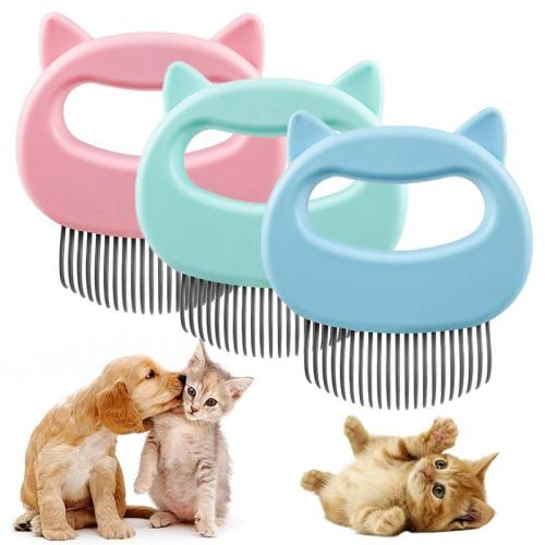 2pcs Pet Cat Dog Massage Comb Hair off Open Knot Brush Pet Shell Needle