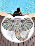 Elephant Head Printed Lucky Beach Mats