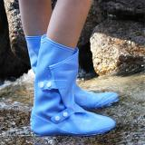 Waterproof PVC Rain Shoes Cover Anti-slip Fold-able Reusable Outdoor Bicycle Silicone Rubber Rain Boots