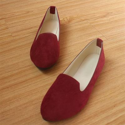 Plus Size Women Candy Color Loafers Flats Sweet Casual Shoes