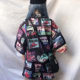 Fashion Print Loose Short Sleeve Turn-down Collar Casual Shirt Hip Hop Streetwear Summer Tops