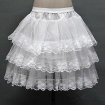 3 Layers Hoopless Lace Petticoat Women Short Petticoats A Line underskirt Bridal crinoline Petticoat 2020