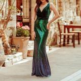 Sequined Sleeveless Bodycon Evening Dress