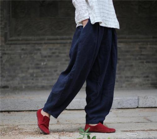 Zen Casual Linen Harem Pants