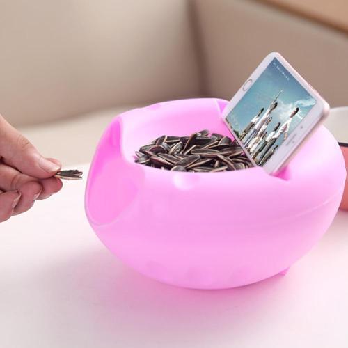 1 PCS Modern Living Room Creative Shape Lazy Snack Bowl Plastic Double Layers Snack Storage Box Bowl Lazy Fruit Plate Bowl