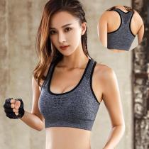 EBUYTIDE Sports Bra Women Tops Sexy Mesh Breathable Sport Top Underwear Female Gym Fitness Seamless Running Yoga Bra Athletic Vest Sports