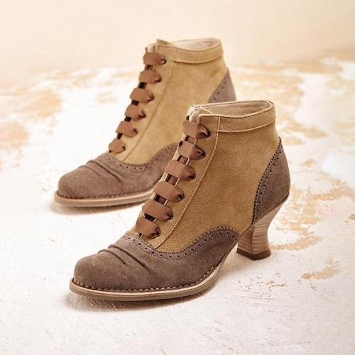 Fashion Lace-up High Heel Ankle Boots