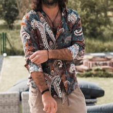 Men's VintageFashion Thin Section Printed Shirt