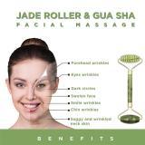 Face Roller Facial Massager Serrate Double-Head Jade Massage Roller Eyes Fade Wrinkles Firming Lifting Beauty Tool For Women