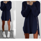 Fashion Loose Round Collar Sweater