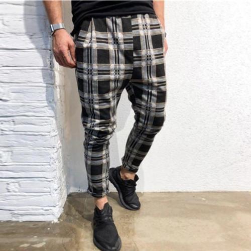 Men's Slim Personality Casual Sports Stripe Pants