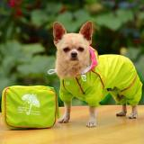 Small Pet Dog Hoody Jacket Rain Coat Waterproof Clothes Slicker Jumpsuit Apparel dog clothes for small dogs raincoats girl boy