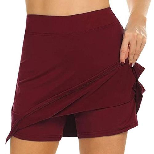 Women Active Skorts Quick Dry Female Running Tennis Skirt With Shorts Inner Lightweight Workout Sports Shorts Tennis Skorts New