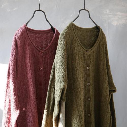 Knitted Patchwork Cotton Linen Dress
