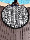 Popular Black Tassels Round Beach Mat Yoga Mat