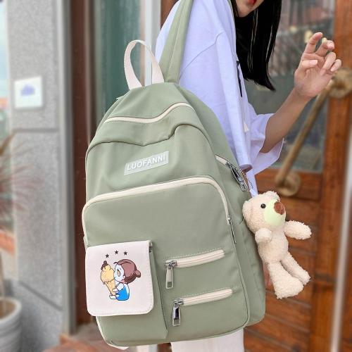 Trendy College Women Cute Backpack Canvas Female Harajuku School Bag Print Book Ladies Backpack Kawaii Fashion Girl Bags Student