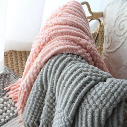 Pink Plaids Bed Sofa Cover Throw Thread Blanket Knitted Bedspread Europe Hubble-bubble Travel TV Nap Car Knit Blankets for Beds