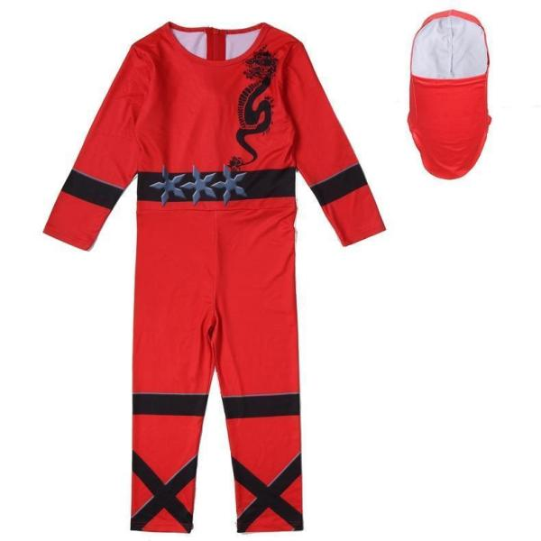 Kids Ninja Costume Boys Halloween Bodysuit Outfit Multiple Color