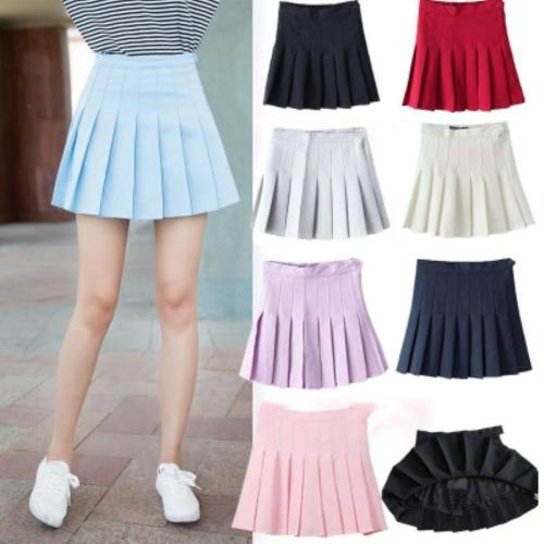 Summer High Waist Tenny Skorts Women Pleated Tennis Skirt Uniform with Inner Shorts Underpants for Tenis Skirts