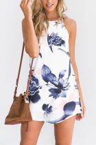 Sexy Floral Print Sleeveless Mini Dress