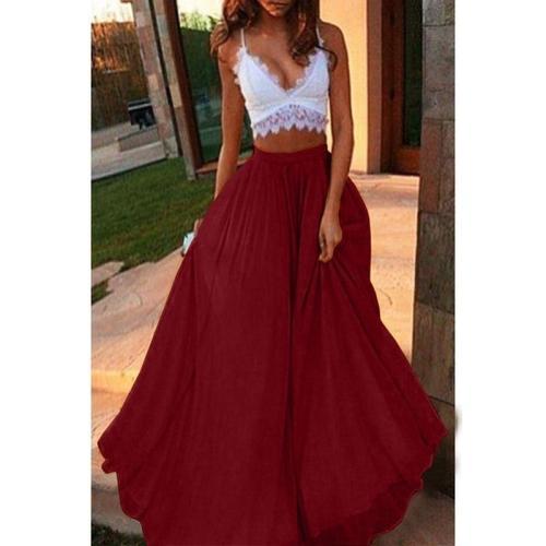2020 Tulle Women Skirts Summer Fashion Elastic High Waist Long Mesh Tutu Pleated Skirt women's Big Hem Skirt
