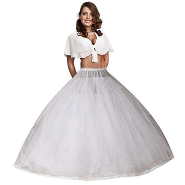 Plus A Line Bridal Petticoat 8 Layers Tulle Underskirt Women Petticoat Crinoline Without Hoop Bridal Wedding Accessories 2020