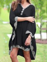 Lacy Plus Size Loose Flared Sleeves Cover-ups