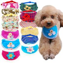 Dog Cat Bandana Plaid Adjustable Scarf Washable Collar for Cats Puppy Pet Accessories for Small Medium Large Dog Supplies