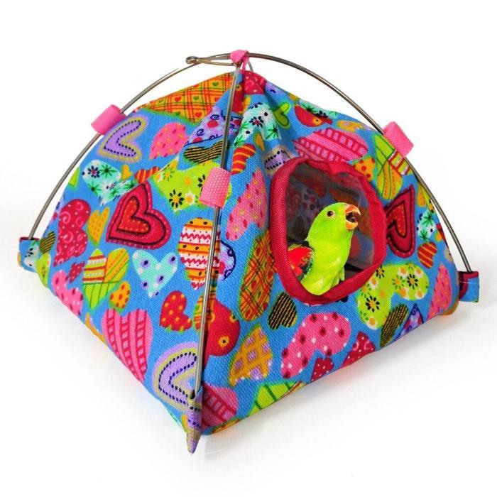 Pet Bird Nest Tent Parrot Hamster Hammock Cage Hut Hanging Bed House Bird Cage Cover Catcher Bird Supplies