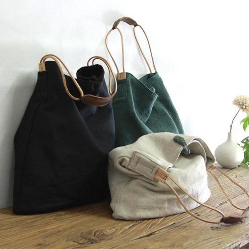 Cotton and Linen Handbag