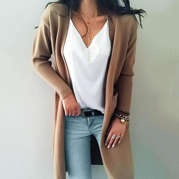2020 Knitted Women Sweaters Fashion Casual Long Sleeve Women Cardigan Coat Korean Autumn Winter Cardigan Female Sweater CDR2246