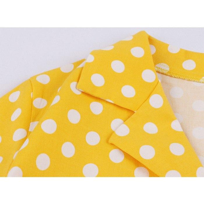 Polka Dot Print Summer Dress Vintage Women 1950s Swing Rockabilly Dress Robe Femme Plus Size Casual Floral Office Party